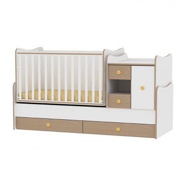 Lorelli Κρεβάτι MiniMax Μετατρεπόμενο White Beech 10150500028A