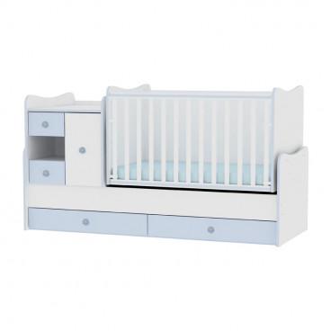 Lorelli Κρεβάτι MiniMax Μετατρεπόμενο White Blue 10150500022A
