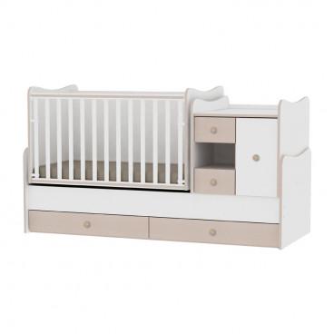 Lorelli Κρεβάτι MiniMax Μετατρεπόμενο White Oak 10150500029A