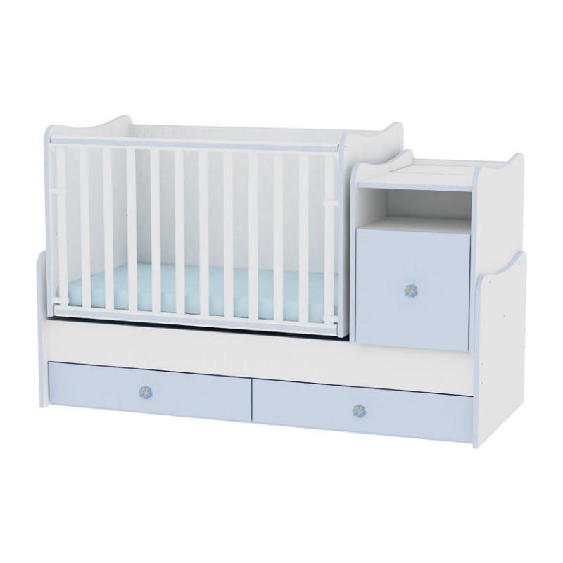 Lorelli Κρεβάτι Trend Plus Μετατρεπόμενο White Blue 10150400022A
