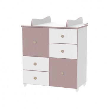 Lorelli Συρταριέρα Αλλαξιέρα Cupboard White Cappuccino 10170110025A