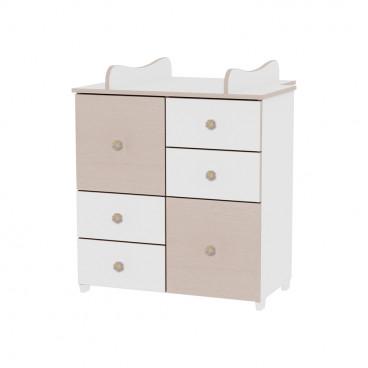 Lorelli Συρταριέρα Αλλαξιέρα Cupboard White Oak 10170110029A