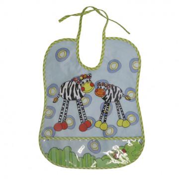 Lorelli Πλαστική Σαλιάρα Με Τσέπη Zebras 10260111303