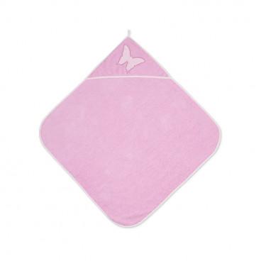 Lorelli Βρεφική Πετσέτα Μπάνιου 80/80cm Pink 20810200005