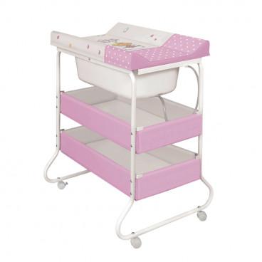 Lorelli Μπανιέρα Αλλαξιέρα Suzie White Pink Little Angel 1013001-008-007