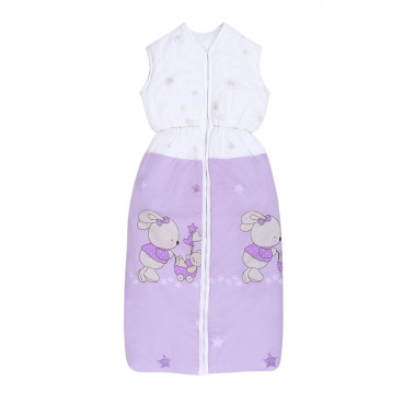 Lorelli Βρεφικός Καλοκαιρινός Υπνόσακος 95 cm Bunnies With Strollers Violet 20810123101