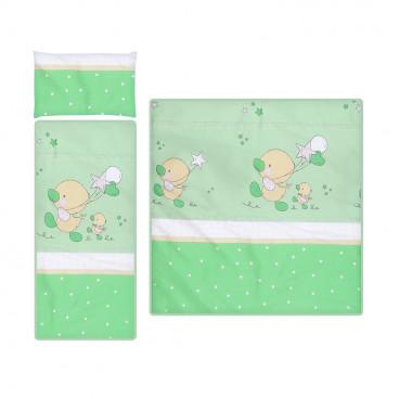 Lorelli Καλοκαιρινό Σετ Καροτσιού Little Ducks Green 20800302803