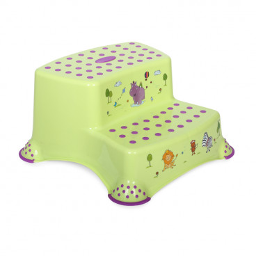 Lorelli Διπλό Βοηθητικό Σκαλοπατάκι Hippo Green 1013055