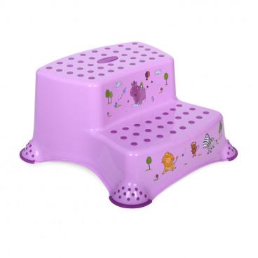 Lorelli Διπλό Βοηθητικό Σκαλοπατάκι Hippo Violet 1013055