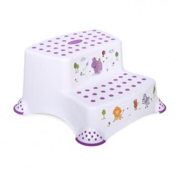 Lorelli Διπλό Βοηθητικό Σκαλοπατάκι Hippo White 1013055
