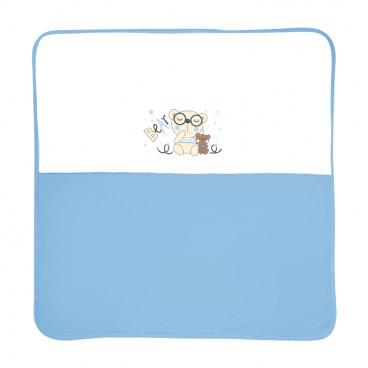Lorelli Κουβέρτα Αγκαλιάς Βαμβακερή 90/90 cm Zaza Blue 20051200002