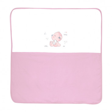 Lorelli Κουβέρτα Αγκαλιάς Βαμβακερή 90/90 cm Zaza Pink 20051200001
