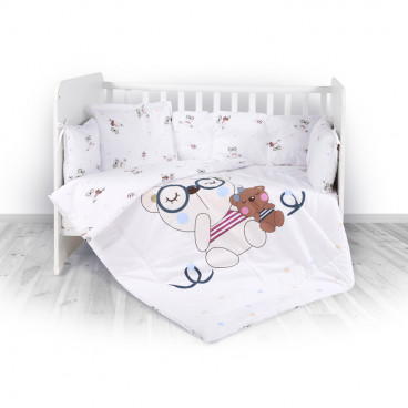 Lorelli Σετ Προίκας Μωρού Για Κούνια 4 Τμχ. Bear Beige 20800023801