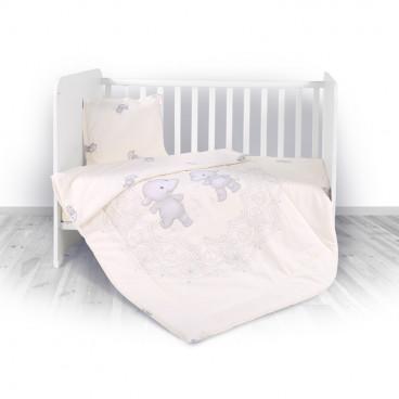 Lorelli Σετ Προίκας Μωρού Για Κούνια 4 Τμχ. Happy Hippo 20800023601