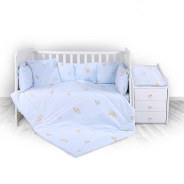 Lorelli Σετ Προίκας Μωρού Για Κούνια Trend Bear Party Blue 20800053701