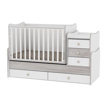 Lorelli Κρεβάτι Maxi Plus Μετατρεπόμενο White Artwood 10150300030A