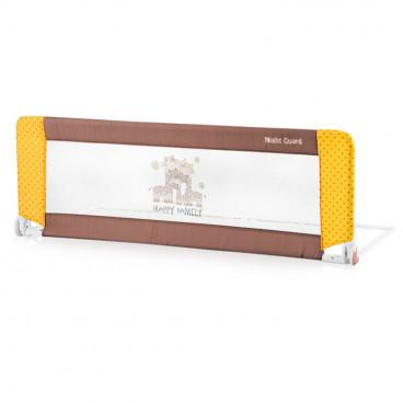 Lorelli Προστατευτική Μπάρα Κρεβατιού Night Guard Beige Yellow Happy Family 10180021803