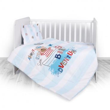 Lorelli Σετ Προίκας Μωρού Για Κούνια 4 Τμχ. Adventure Blue 20800023901