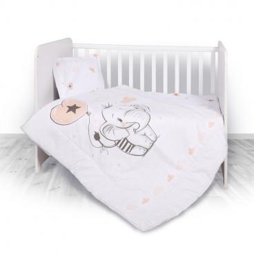 Lorelli Σετ Προίκας Μωρού Για Κούνια 4 Τμχ. Elephant 20801024401