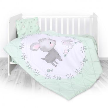 Lorelli Σετ Προίκας Μωρού Για Κούνια 4 Τμχ. Lamb Green 20800024101