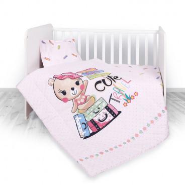 Lorelli Σετ Προίκας Μωρού Για Κούνια 4 Τμχ. Travelling Pink 20800024001