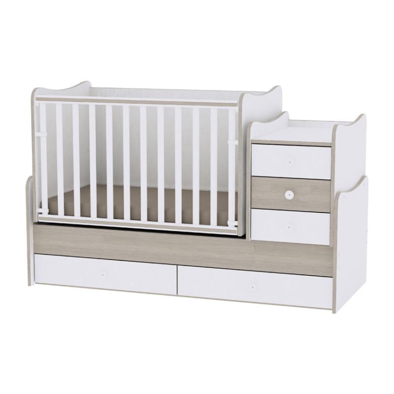 Lorelli Κρεβάτι Maxi Plus Μετατρεπόμενο White Amber 10150300035A