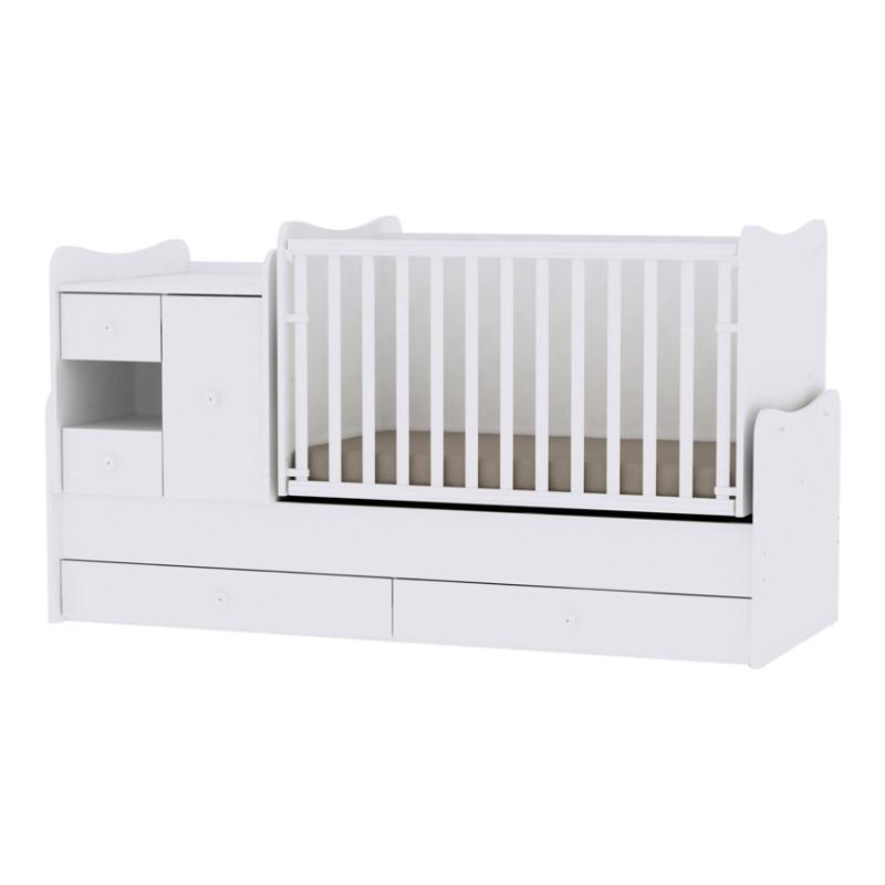 Lorelli Κρεβάτι MiniMax Μετατρεπόμενο White 10150500024A