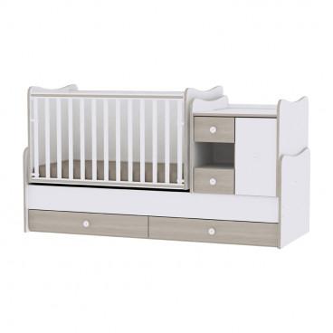 Lorelli Κρεβάτι MiniMax Μετατρεπόμενο White Amber 10150500035A