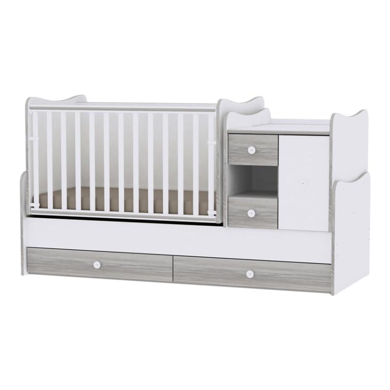 Lorelli Κρεβάτι MiniMax Μετατρεπόμενο White Artwood 10150500030A