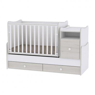 Lorelli Κρεβάτι Trend Plus Μετατρεπόμενο White Light Oak 10150400036A