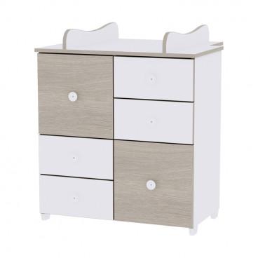 Lorelli Συρταριέρα Αλλαξιέρα Cupboard White Amber 10170110035A