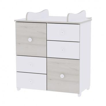 Lorelli Συρταριέρα Αλλαξιέρα Cupboard White Light Oak 10170110036A