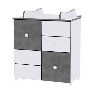 Lorelli Συρταριέρα Αλλαξιέρα Cupboard White Vintage Grey 10170110034A
