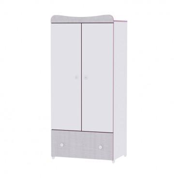 Lorelli Ντουλάπα Exclusive White Pink Crossline 10170120032