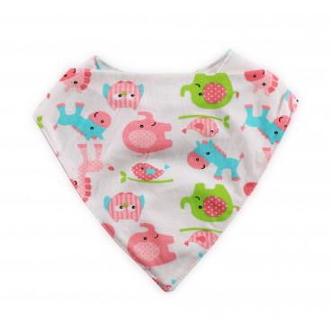 Lorelli Σαλιάρα Μπαντάνα Pink Animals 1026016