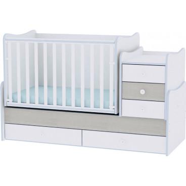 Lorelli Κρεβάτι Maxi Plus Μετατρεπόμενο White Blue Elm 10150300033A