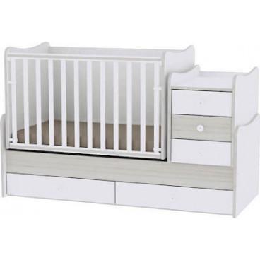 Lorelli Κρεβάτι Maxi Plus Μετατρεπόμενο White Light Oak 10150300036A
