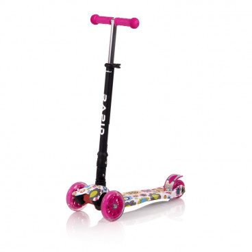 Lorelli Πατίνι Scooter Rapid Pink Flowers 10390040001