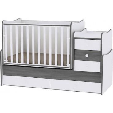 Lorelli Κρεβάτι Maxi Plus Μετατρεπόμενο Vintage Grey 10150300034А