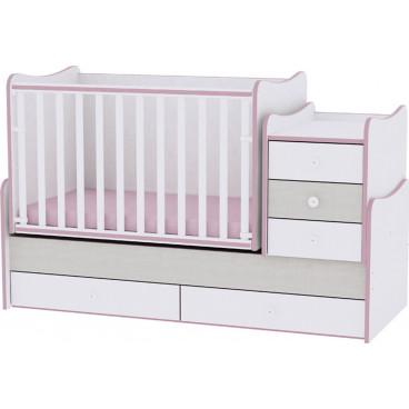 Lorelli Κρεβάτι Maxi Plus Μετατρεπόμενο Pink Crossline 10150300032А