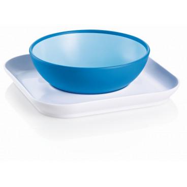 Mam Σετ Πιάτο Και Μπωλ 6m+ Blue 528