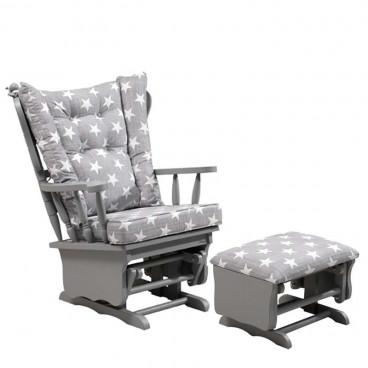 Meltem Smart Πολυθρόνα Θηλασμού Grey Stars MS-03