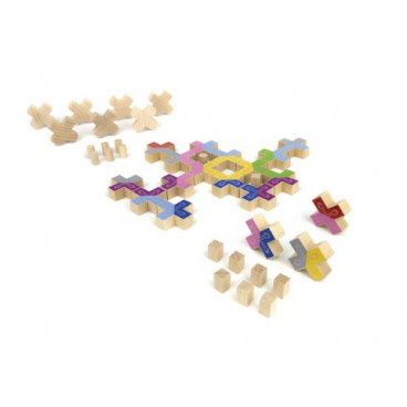 Milaniwood Ξύλινο Επιτραπέζιο Παιχνίδι Κόλλα Πέντε ΜΙL-QLΜ0-001