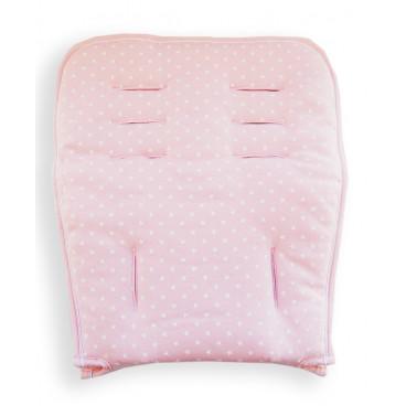 Minene Βαμβακερό Kάλυμμα  Καροτσιού Διπλής Όψης Ροζ Aστέρια MN3024