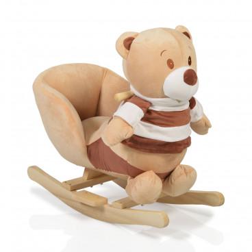 Moni Κουνιστό Βελούδινο Αρκουδάκι Bear Beige 3800146242190