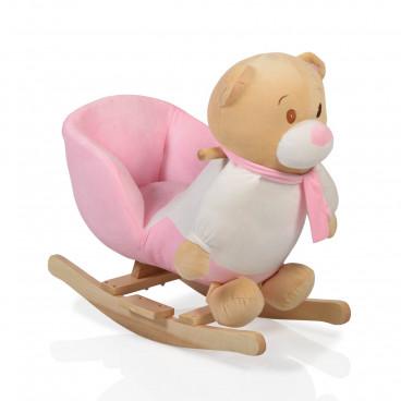 Moni Κουνιστό Βελούδινο Αρκουδάκι Bear Pink 3800146242206