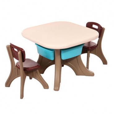 Moni Garden Table With Two Chairs Comfort Brown 18109