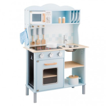 New Classic Toys Ξύλινη Κουζίνα Modern Electric Cooking Blue 11065