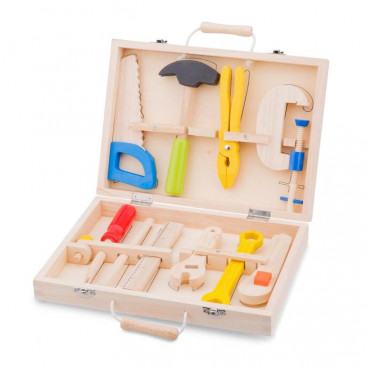 New Classic Toys Ξύλινο Σετ Εργαλείων 10 Τμχ. 18280