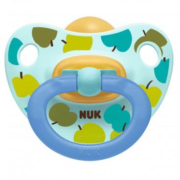 Nuk Πιπίλα Με Θηλή Καουτσούκ 0-6m+ Classic Happy Kids Blue Apple 10725209